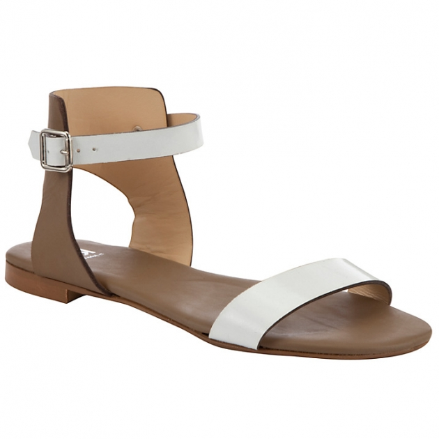 Kin by John Lewis Two Leather Ankle Strap Sandals