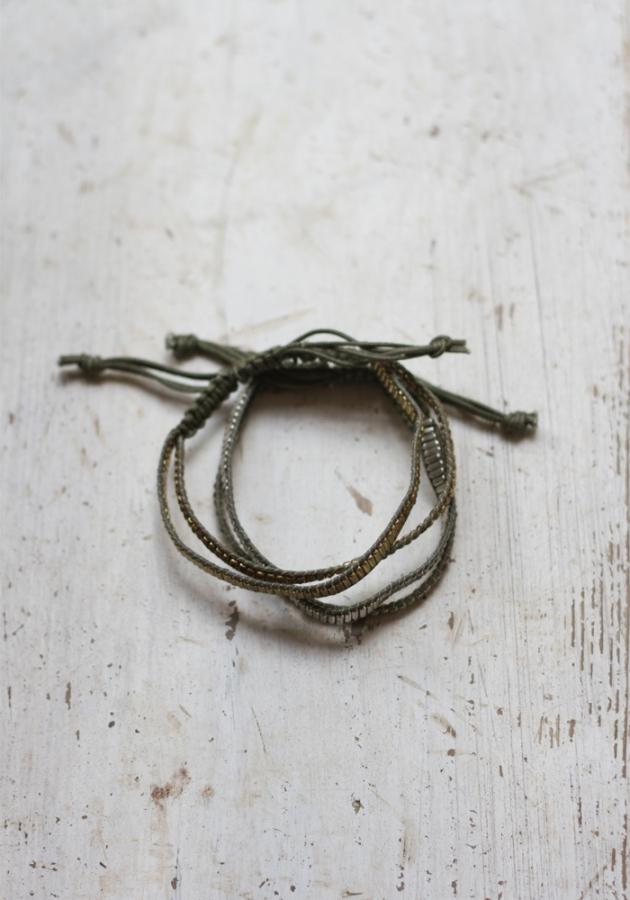 Bodie Stud Bracelet, Khaki