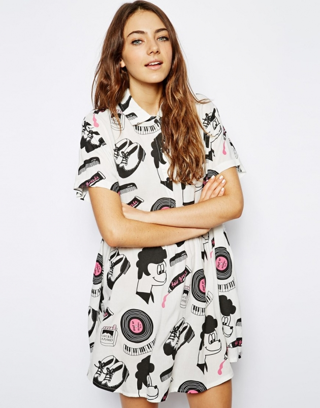 Lazy Oaf Love Peace And Hair Grease Dress