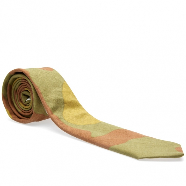 The Hill-Side Italian Camouflage Pointed Tie