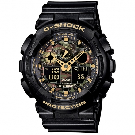 Casio G-Shock GA-100CF-7A9ER Camo Dial Watch