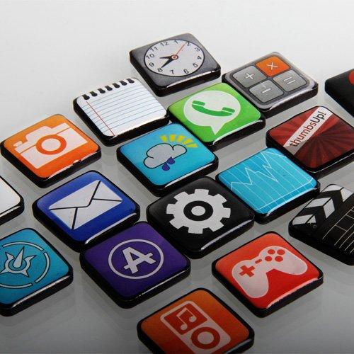 iPhone and ipod App Fridge Magnets