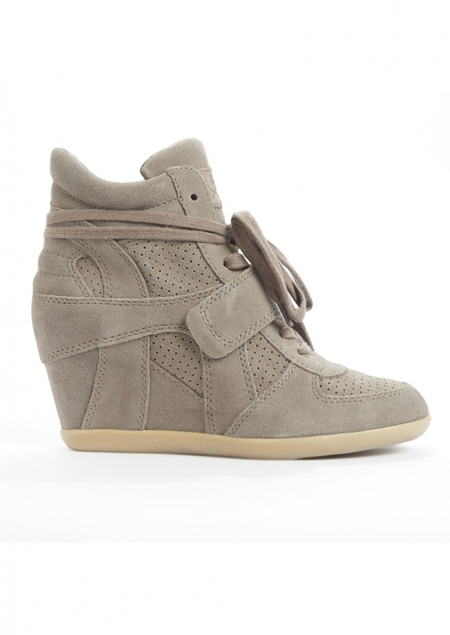 BOWIE CALF SUEDE WEDGE TRAINERS