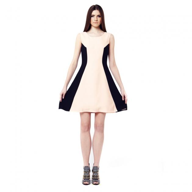 Bi Colour Geometrical Dress