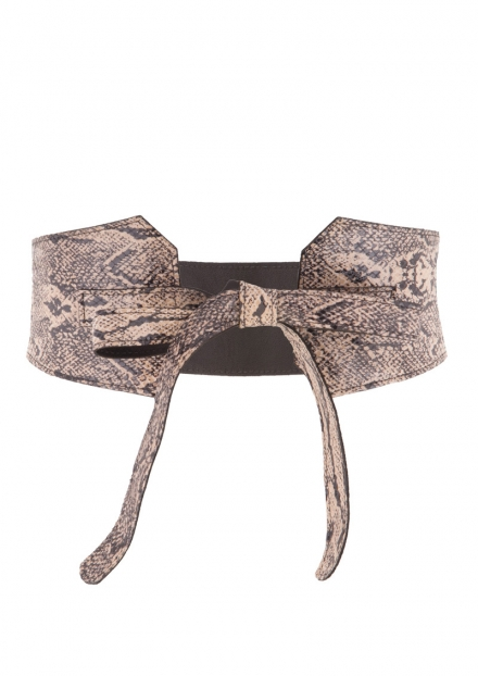 HEDI REVERSIBLE SNAKESKIN BELT