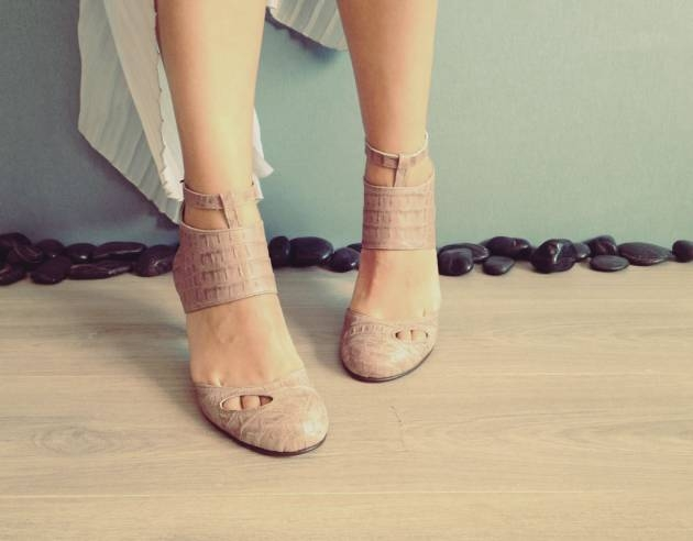 CECILE – Pale Pink – Handmade Leather Shoes