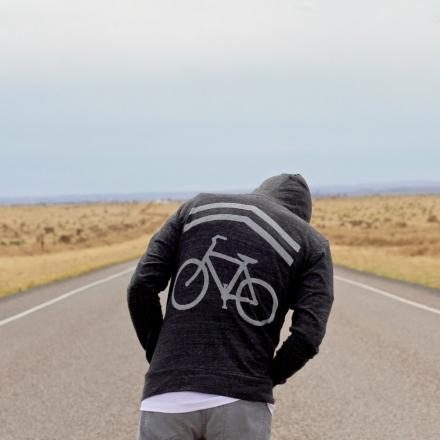 Bike sharrows print hoodie