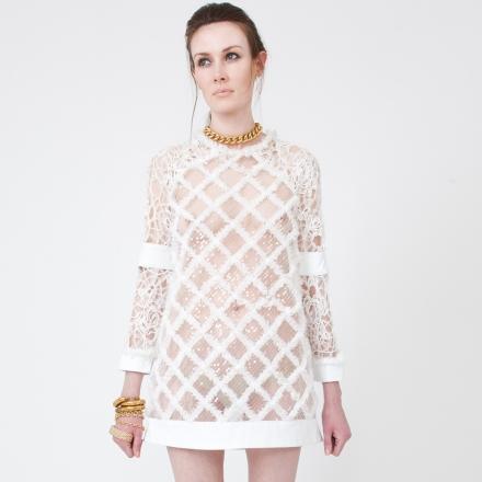Vielma Mini Leather Party Dress