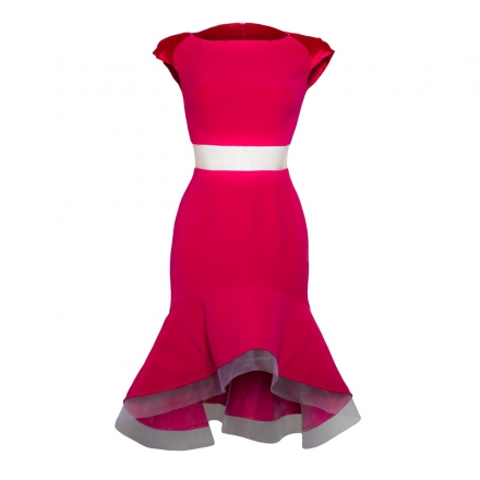 Raspberry Peplum Dress
