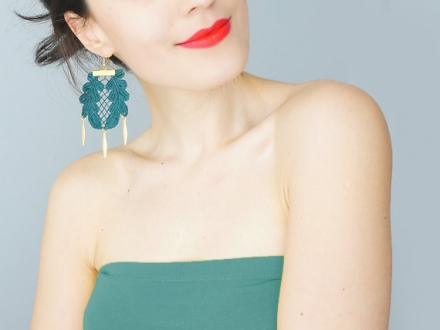 Statement Lace Earrings