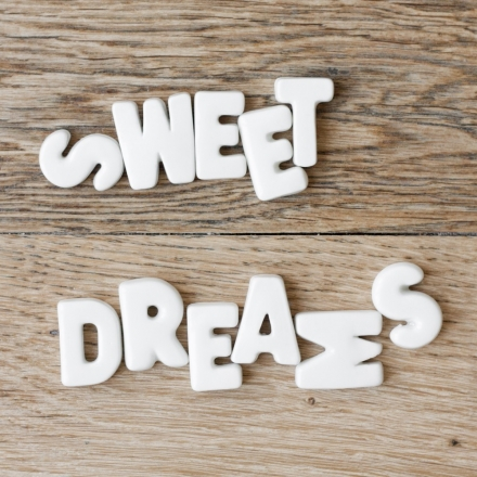 Sweet Dreams typography photography print