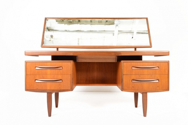 G Plan Fresco Floating Top Teak Desk Vanity
