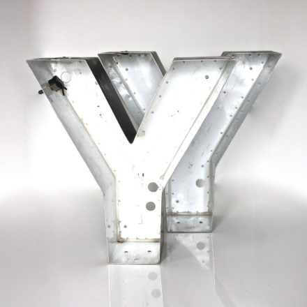 Neon Channel Sign Letter Capital 'Y'