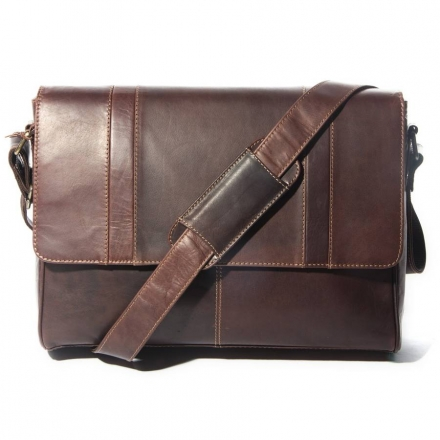 Corsa Leather Messenger Bag