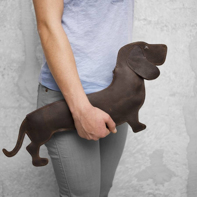 Dachshund Leather Bag With Shoulder Strap