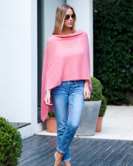Gauzy Knit Two Way Poncho
