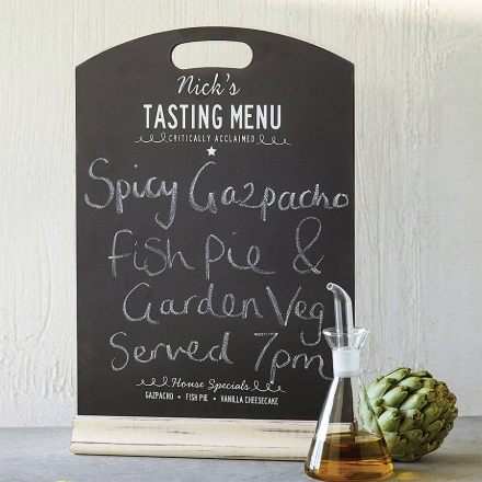Personalised Chalkboard Menu
