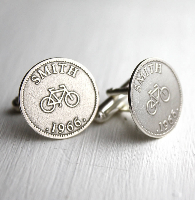 Personalised Sport And Hobby Coin Cufflinks