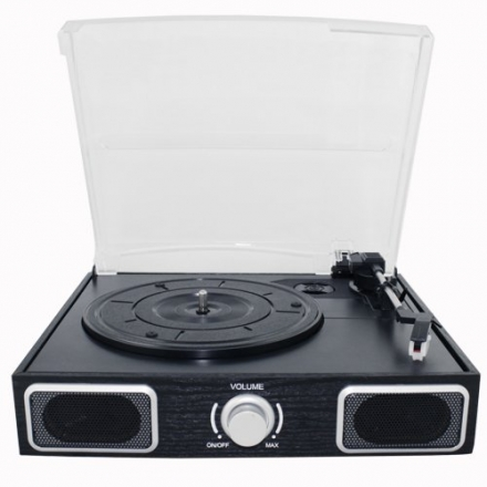AMOS USB Turntable 3 Speed Vinyl Record LP Player Recorder Vinyl to MP3
