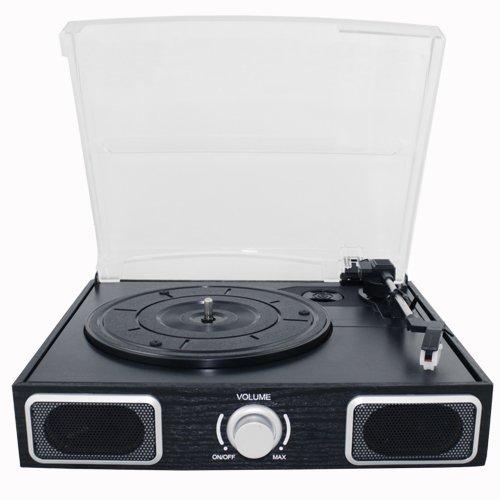 AMOS USB Turntable 3 Speed Vinyl Record LP Player Recorder Vinyl to MP3
