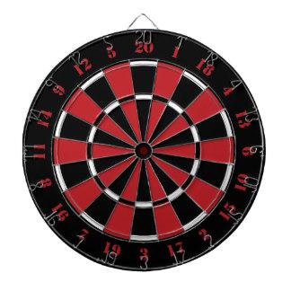 Custom Black Red and White Dart Board