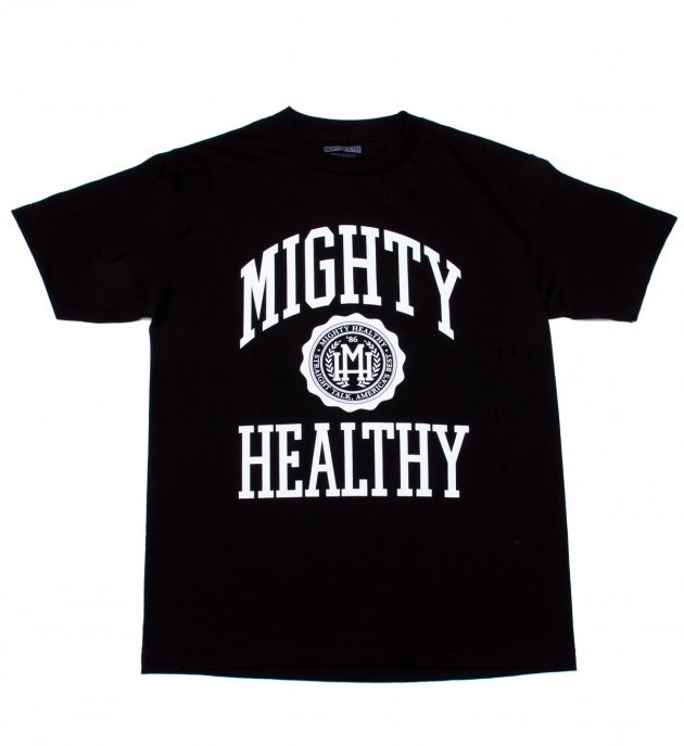 Mighty Healthy Collegiate T Shirt