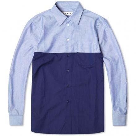 Marni Colour Block Oxford Shirt