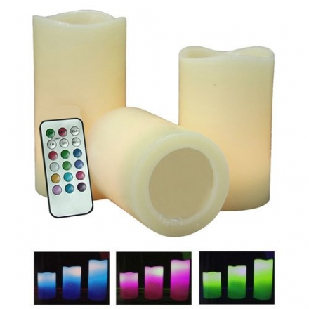 Colour Changing LED Vanilla Scented Flameless Wax Mood Candles