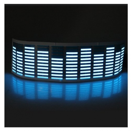 Sound Music Activated Car Stickers Equalizer Glow Blue LED Light