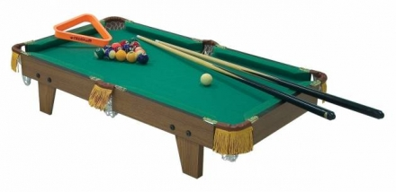 36″ Deluxe Wooden Tabletop Mini Pool Table with Accessories