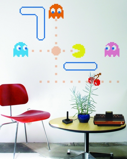 Luckies of London Adhesive Pac Man Self Wall Graphics