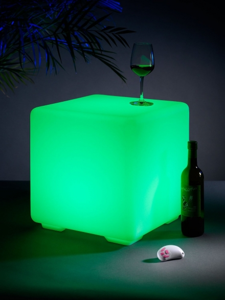 Light Up Colour Changing Outdoor Furniture Stool Mood Cube