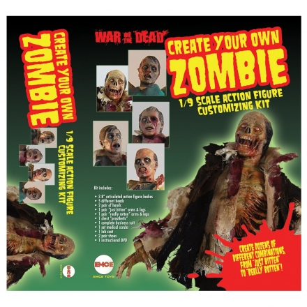 Fourth Castle Action Figure 1/9 Scale Customizing Kit – Make Your Own Zombie