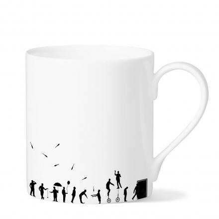 Queuing mug