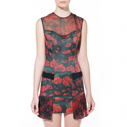 DB Berdan Rose Repeat Mini Dress