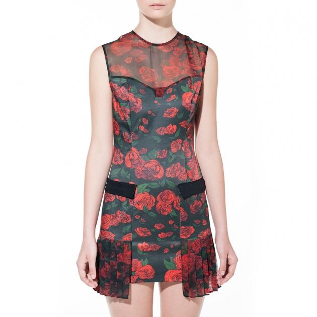 DB Berdan Rose Repeat Mini Dress