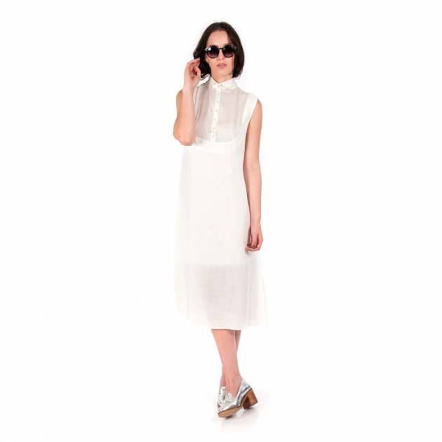 Laura Smith Sleeveless Shirt Dress