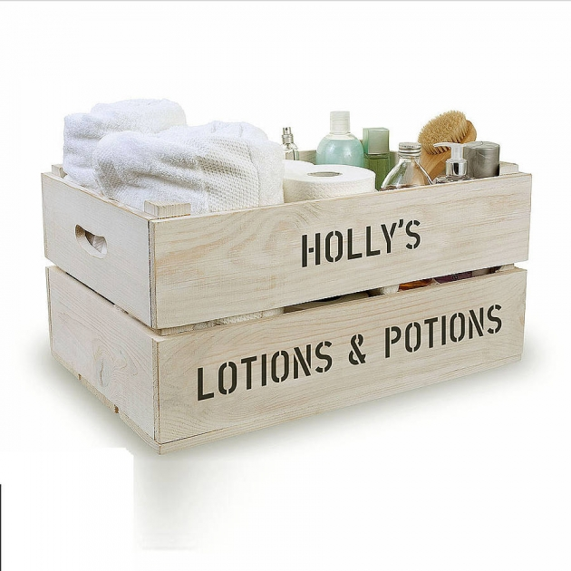 Personalised Bathroom Storage Crate