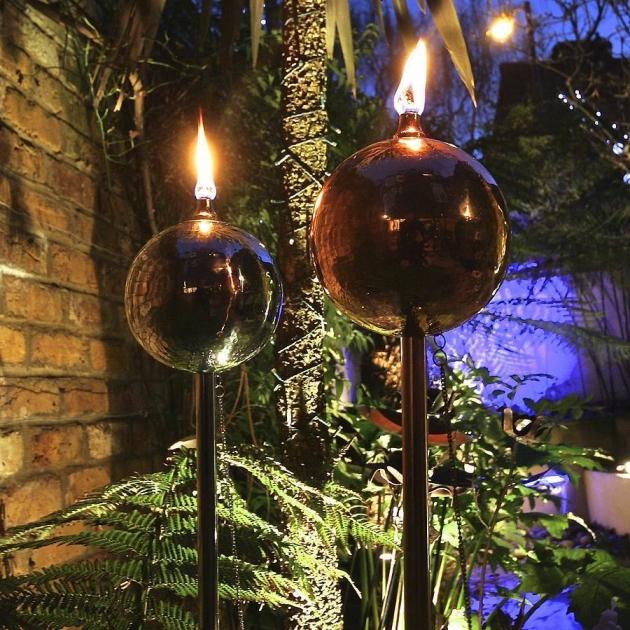 Copper Globe Garden Oil Torch