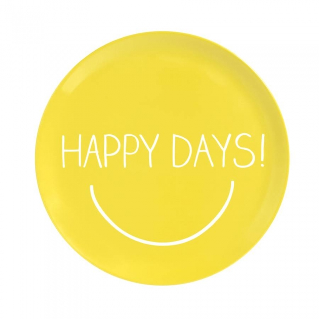 Happy Days Yellow Serving Plate