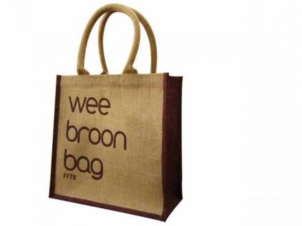 Natural Wee Broon Shopping Bag