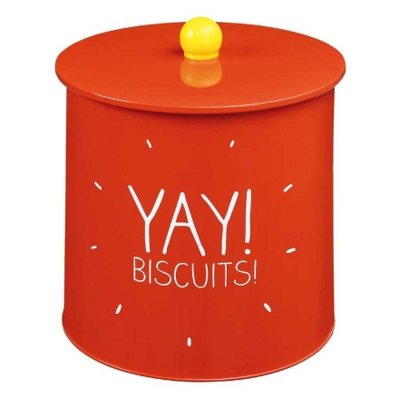 Yay! Biscuits Red Biscuit Tin
