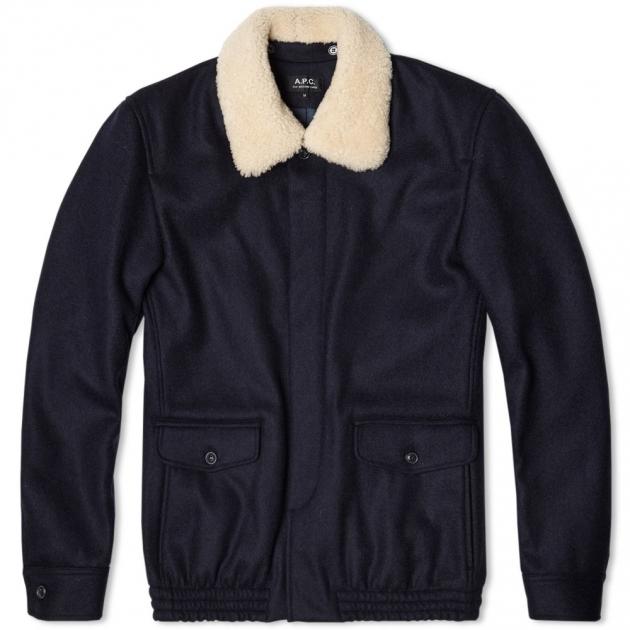 A.P.C. Fur Collar Bomber Jacket