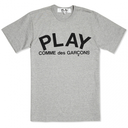 Comme Des Garcons Play Text Logo Tee