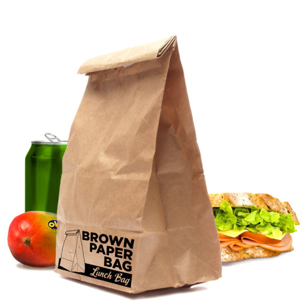 BROWN PAPER BAG – INSULATED LUNCH BAG
