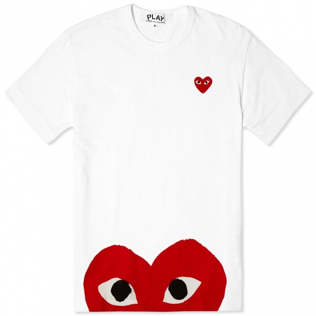 Comme des Garcons Play Oversized Heart Tee