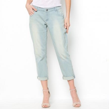 Low Slung Distressed Boyfriend Jeans