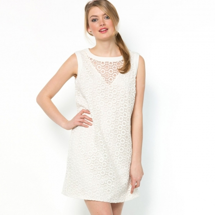 Embroidered Round Necked Dress