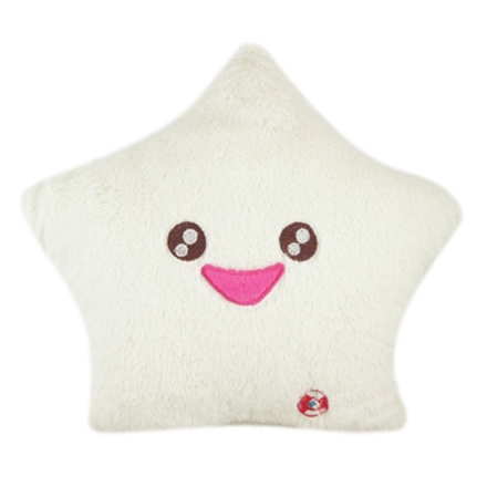 Smile Star Design Color Changing LED Light Toss Thrown Pillow