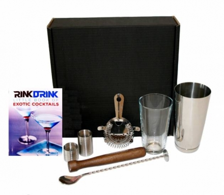 Rink Drink Boston Cocktail Shaker Gift Set
